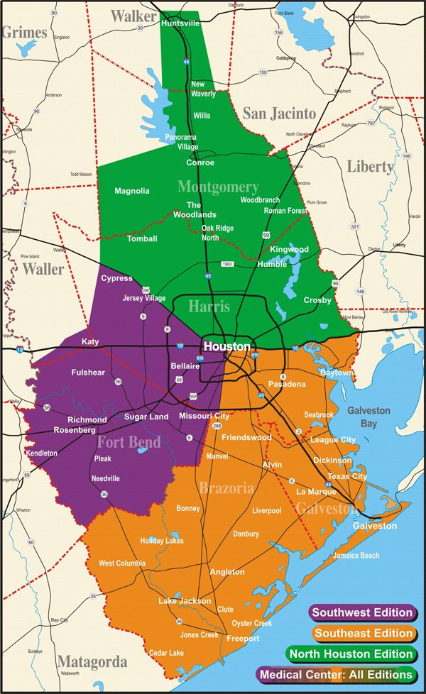 SRG Greater Houston Area Edition Map