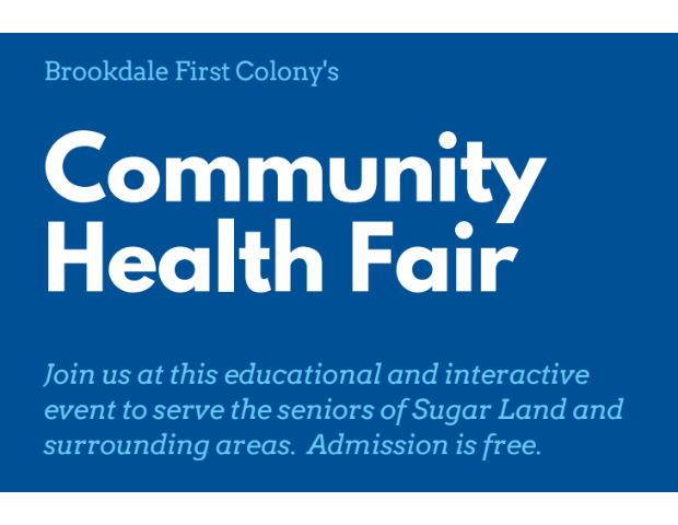 Brookdale First Colony's Community Health Fair.png
