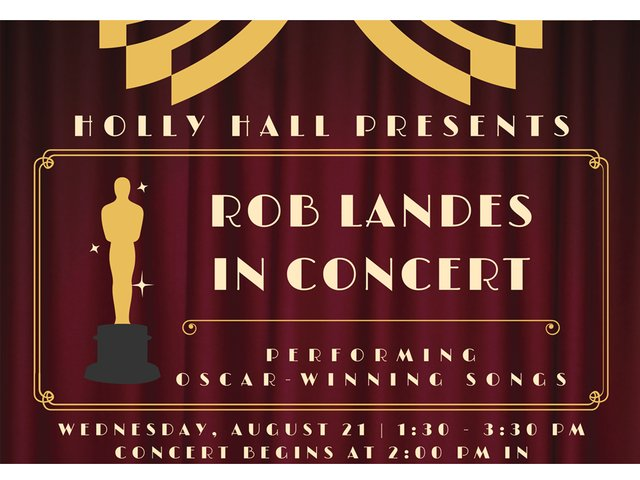 Rob Landes Concert Holly Hall Retirement August2019