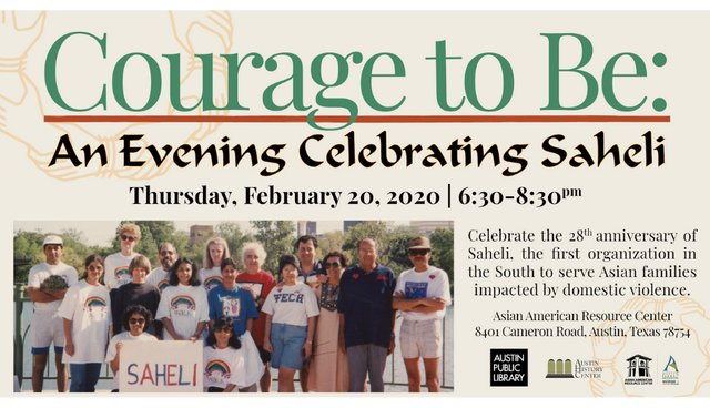 Courage to Be An Evening Celebrating Saheli