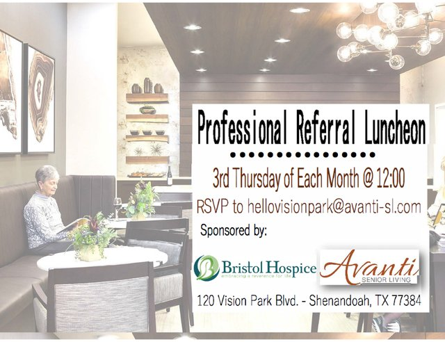 Professional Referral Luncheon at Avanti Living at Vision Park