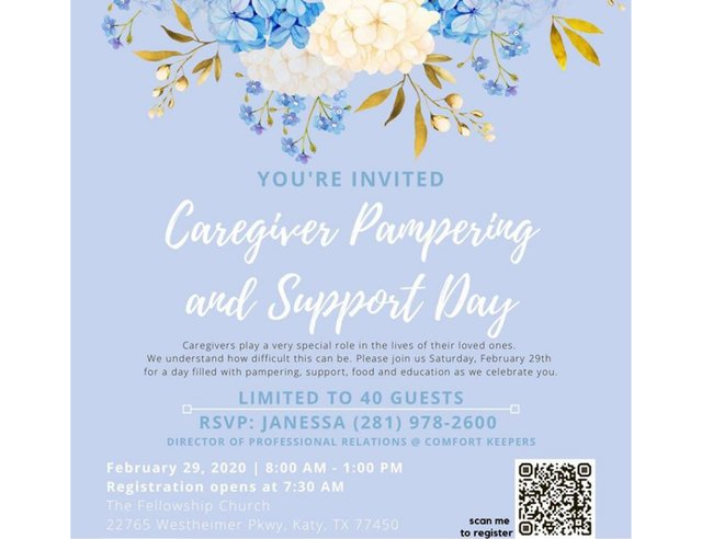 Caregiver Pampering and Support Day
