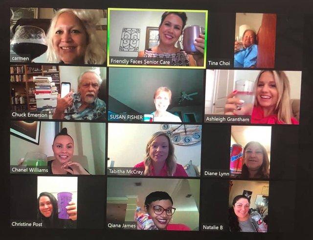 Friendly Faces Senior Care Virtual Happy Hour