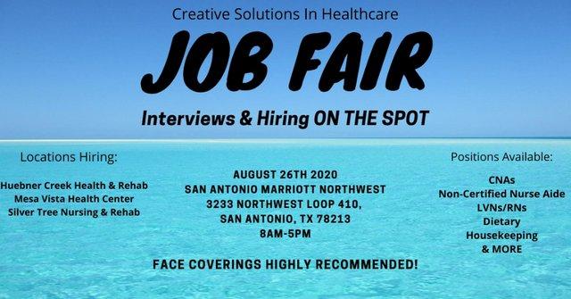 Job Fair! Hiring On The Spot!