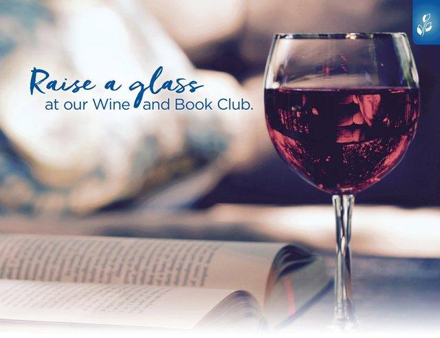 Brookdale Memorial Oaks' Virtual Wine and Book Club