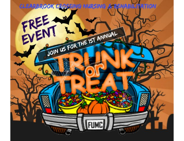 First Annual Trunk or Treat with Clear Brook Crossing Nursing & Rehabilitation