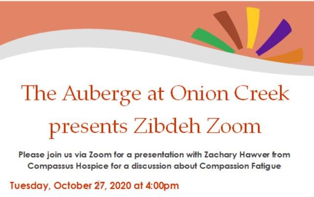 The Auberge at Onion Creek Presents Zibdeh Zoom