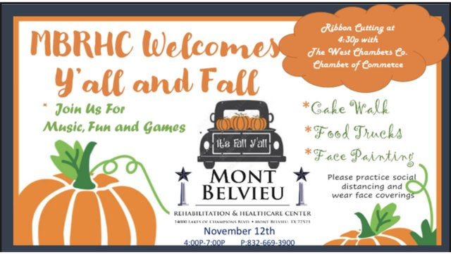 Mont Belvieu Rehabilitation & Healthcare Center Welcomes Y'all and Fall