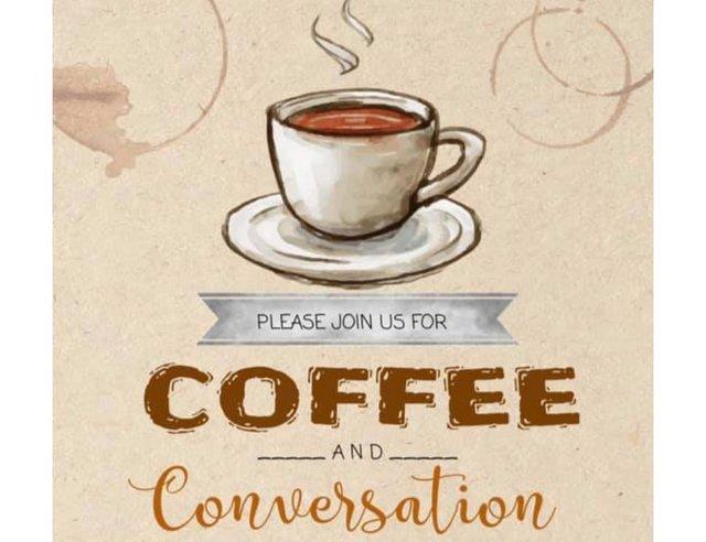 Coffee and Conversation PJ's Coffee Shop