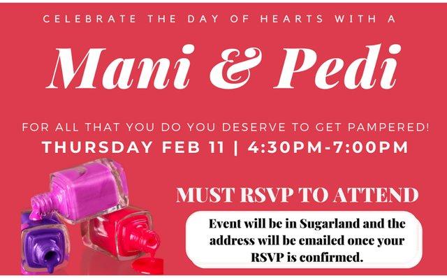 Valentine's Day Mani Pedi Event