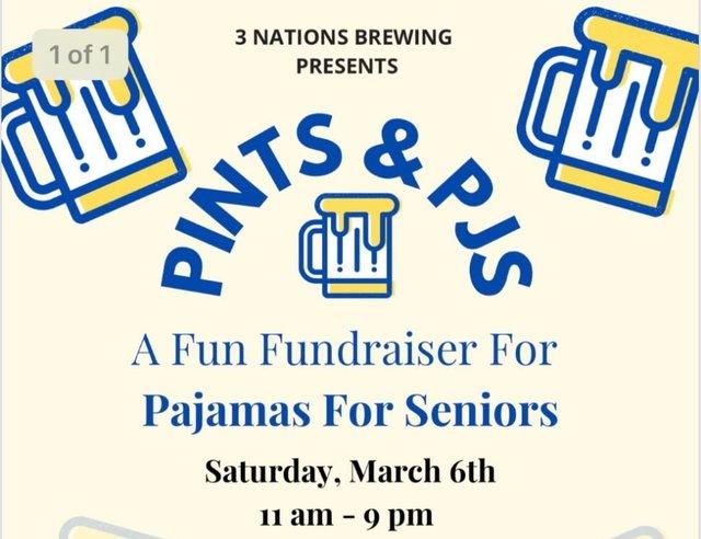 Pints & PJs A Fun Fundraiser for Pajamas for Seniors