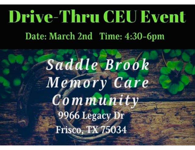 Drive-Thru CEU Event at Saddle Brook Memory Care