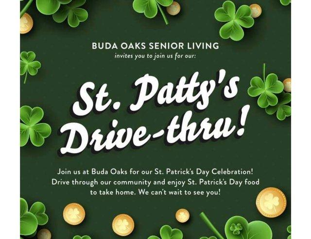 St. Patty's Drive-thru at Buda Oaks