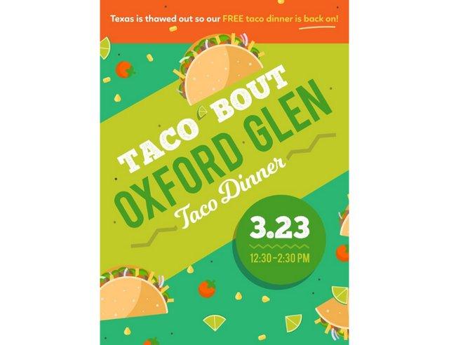 Taco 'Bout Oxford Glen Taco Dinner