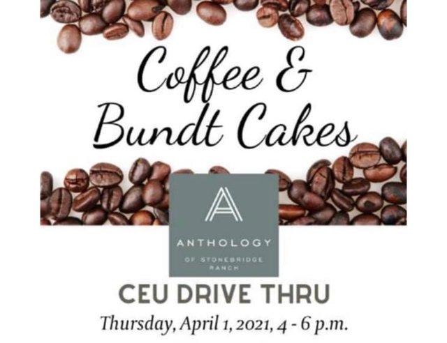 Coffee & Bundt Cakes CEU Drive Thru