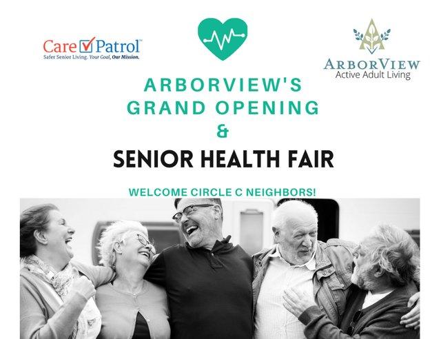 ArborView's Grand Opening and Senior Health Fair