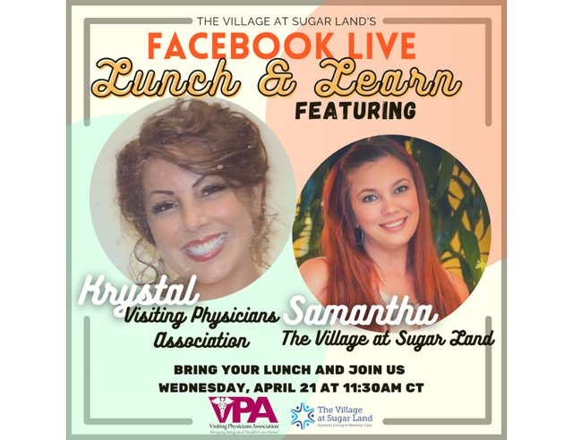 The Village at Sugar Land's Lunch & Learn Series