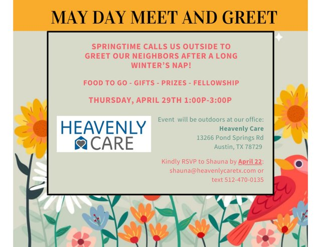 May Day Meet and Greet