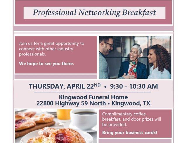 Professional Networking Breakfast