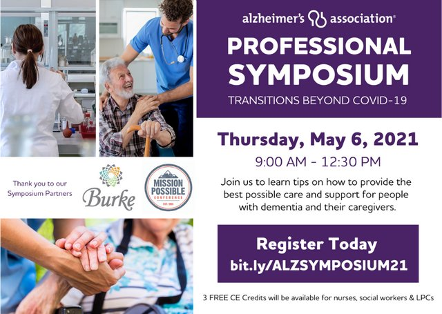 Alzheimer's Association Professional Symposium Transitions Beyond COVID19