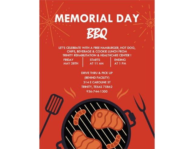 Memorial Day BBQ at Trinity Rehabilitation & Healthcare Center