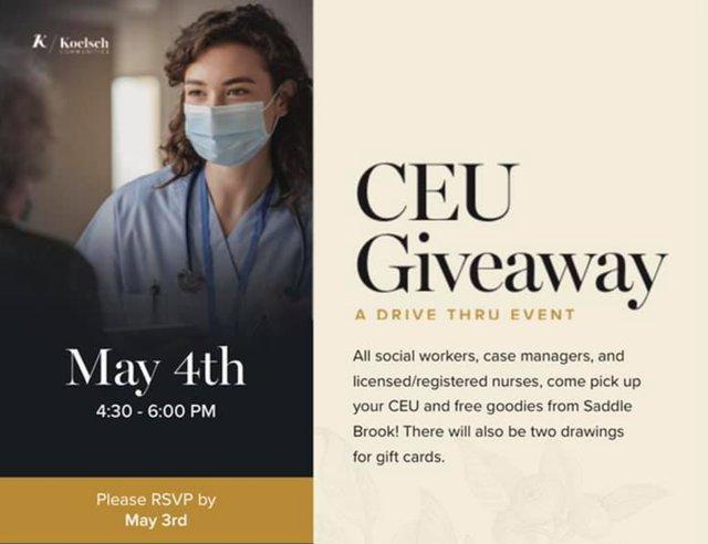 CEU Giveaway at Saddle Brook Memory Care