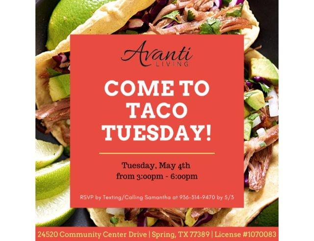 Taco Tuesday at Avanti Living at Augusta Pines