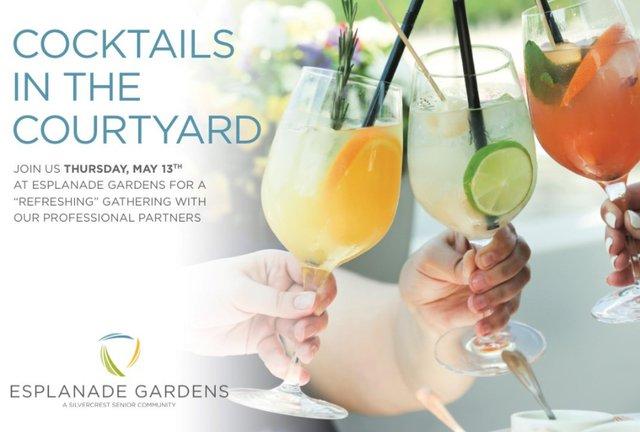 Cocktails in the Courtyard at Esplanade Gardens