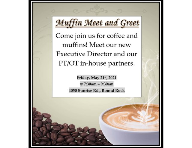 Muffin Meet and Greet at Poet's Walk Round Rock