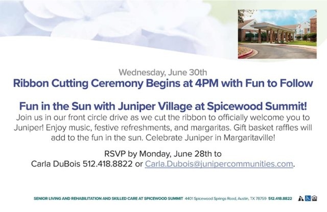 Juniper Village at Spicewood Summit Ribbon Cutting