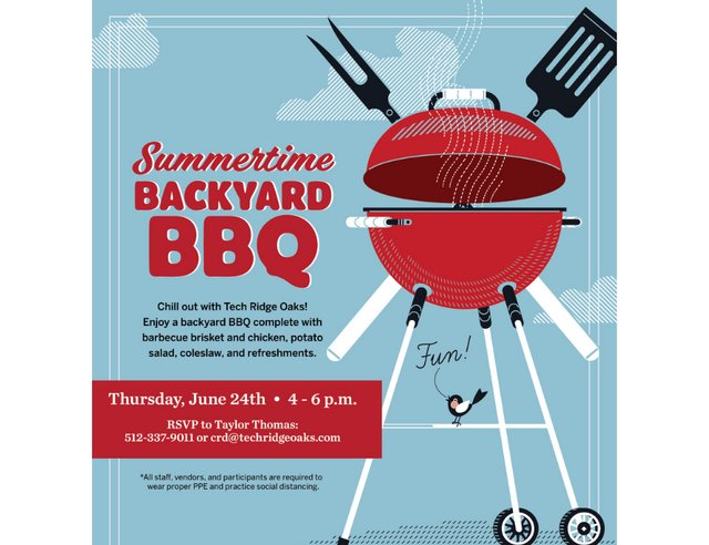 Summertime Backyard BBQ at Tech Ridge Oaks