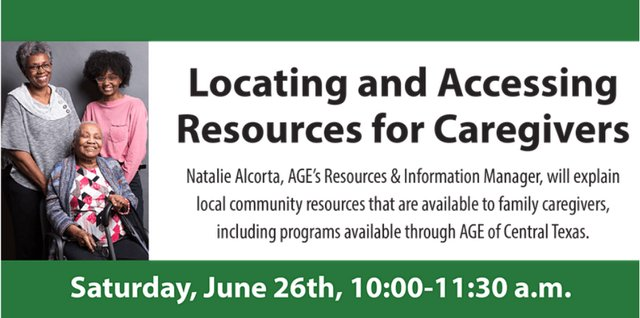 Locating and Accessing Resources for Caregivers Online Seminar