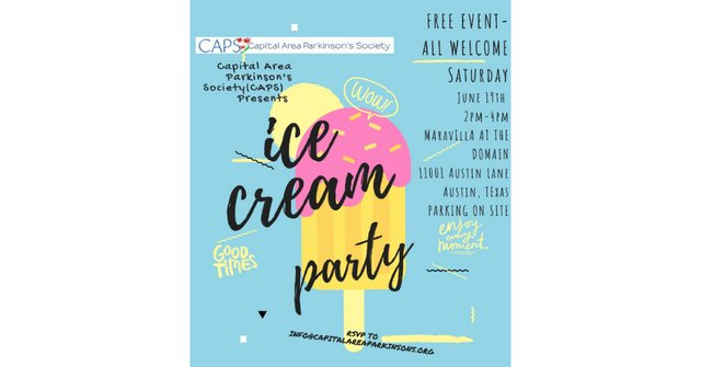 Ice Cream Party with the Capital Area Parkinson's Society