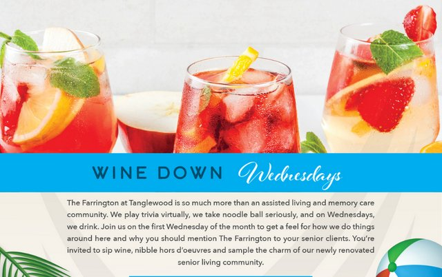 Wine Down Wednesday at The Farrington at Tanglewood