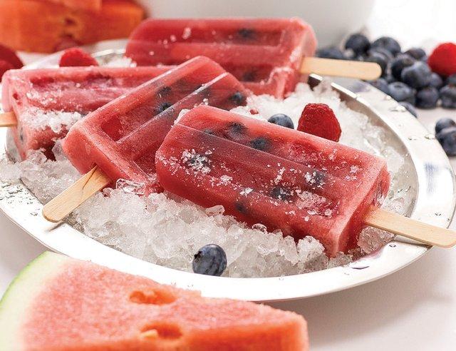 Watermelon Berry Frozen Pops