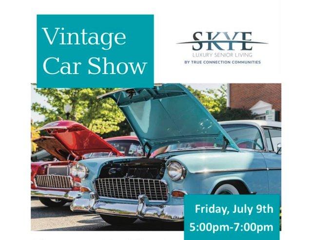 Vintage Car Show at Skye Luxury Senior Living