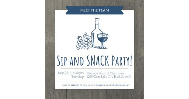 Sip and Snack Party