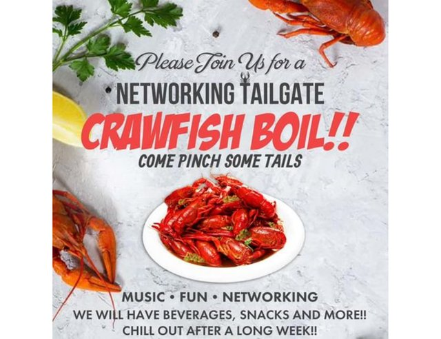 Networking Tailgate Crawfish Boil