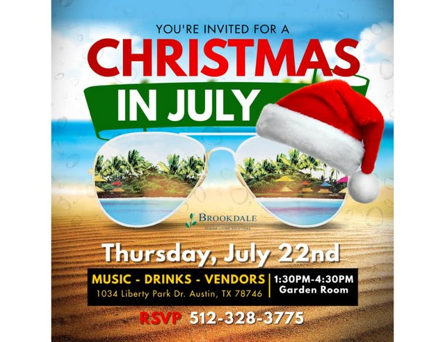 Christmas in July at Brookdale Westlake Hills