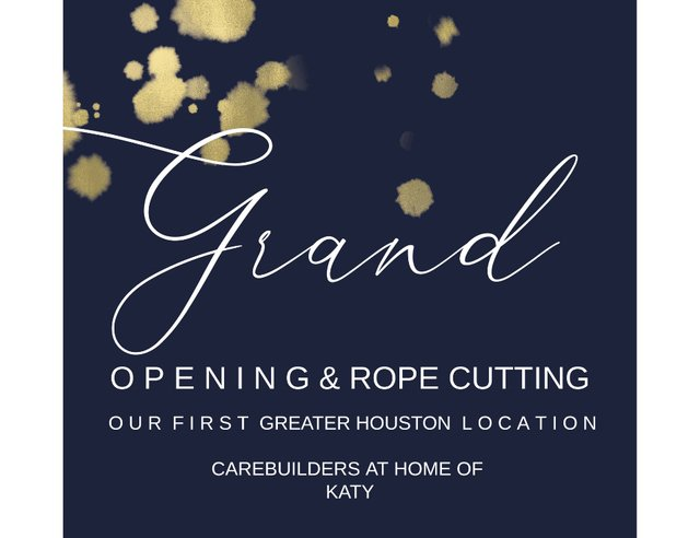 Carebuilders at Home of Katy's Open House Ribbon & Rope Cutting