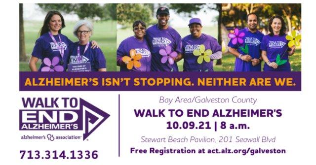 2021 Bay Area/Galveston County Walk to End Alzheimer's