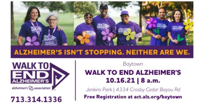2021 Baytown Walk to End Alzheimer's